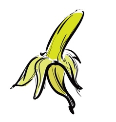 Cartoon yellow banana vector