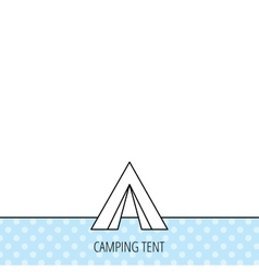 Tourist tent icon camping travel sign vector