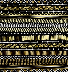 Gold boho seamless pattern retro tribal background vector