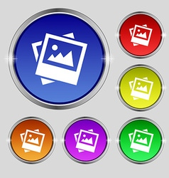File jpg icon sign round symbol on bright vector