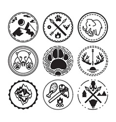 Nature and historical badges vector