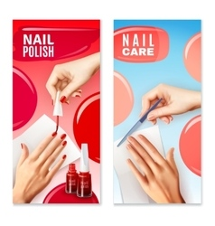Nail care polish 2 banners set vector