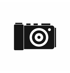Photo camera icon simple style vector