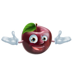 apple mascot vector image vector image