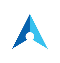 Arrow navigation colored logo vector