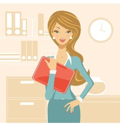 Beautiful business woman vector image vector image