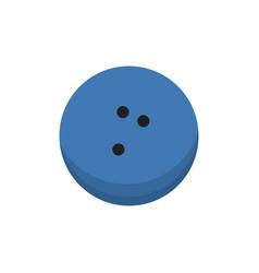 cartoon bowling ball isolated vector image vector image