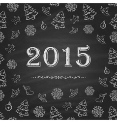Christmas or New Year Chalkboard design vector image vector image