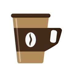 disposable coffee cup icon vector image vector image