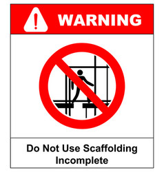 Do not use this incomplete scaffold warning vector
