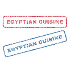 egyptian cuisine textile stamps vector image vector image