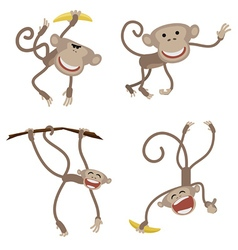 Funny monkey for horoscope vector