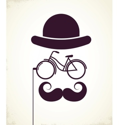 Gentlemen with Bicycle eyeglass vector image