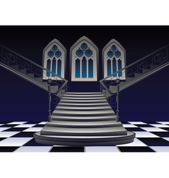 Gothic stairs interior4 vector