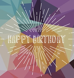 Happy birthday greetings sunrays retro theme vector