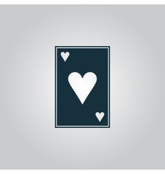 Hearts card icon vector image vector image
