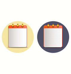 Icon of notebook in two variations vector