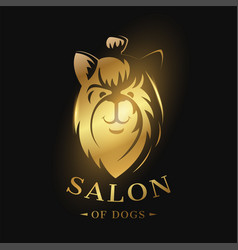 logo of the dog icon template vector image