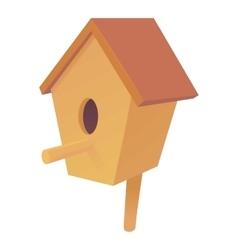 Nesting box icon cartoon style vector