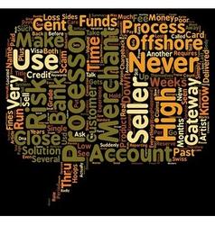 Offshore high risk merchant account text vector