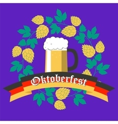 Oktoberfest poster flat design vector