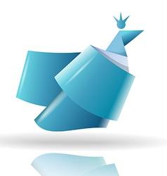 Origami bird symbol vector image