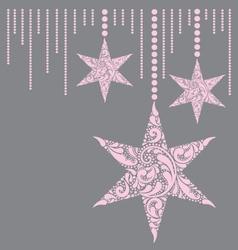 Pink christmas card vector image
