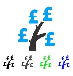 Pound money tree flat icon vector