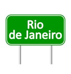 Rio de janeiro road sign vector