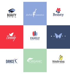 Set of beauty and nature logo templates and icons vector image