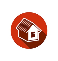 Simple house detailed Property developer c vector image vector image