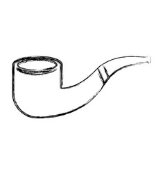 Sketch draw smoke pipe vector