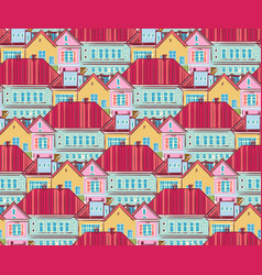 town houses vector image vector image