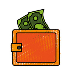 Wallet accessory icon vector