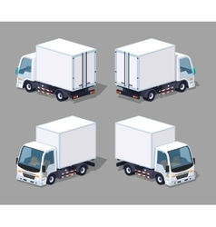 White cargo truck vector image vector image
