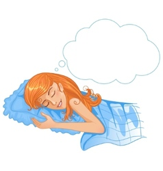 Young beautiful girl dreaming in the night eps10 vector image vector image