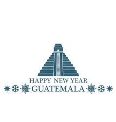 Happy new year guatemala vector
