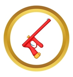 Red paintball gun icon vector