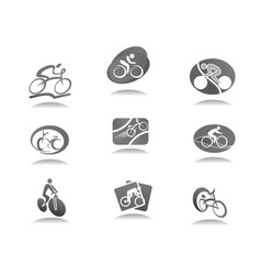 cycle sport and bicycle icon for bike race design vector image