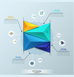 infographic design template bar chart with 4 vector image