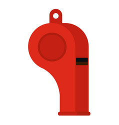 Red sport whistle icon isolated vector