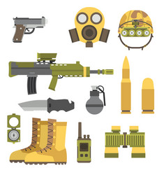 Military weapon guns armor forces american fighter vector