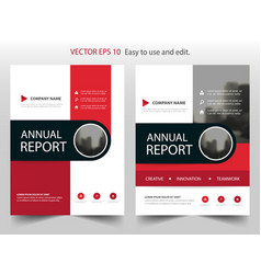 Red circle abstract annual report brochure vector