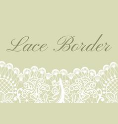 Lace border card vector