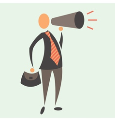 Business man with megaphone vector