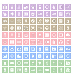 100 square icon vector