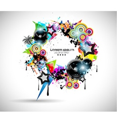 2014 Music Event Background for your Flyers vector image vector image