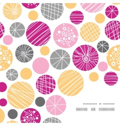 abstract textured bubbles frame corner pattern vector image
