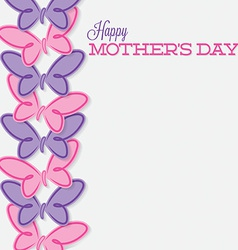 Line of butterflies mothers day card in format vector