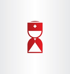 Doctor medical man first aid red icon vector